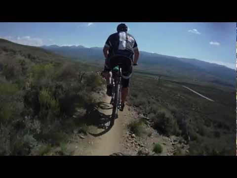Leadville Trail 100 MTB 2012 – Outbound single track approaching Twin Lakes Aid Station