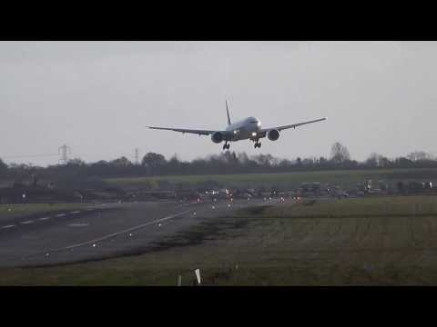 around - Emirates 777 go around at Birmingham Airport due to high winds - Thursday 5 December. This aircraft tried a second approach at BHX but wasn't successful so d...