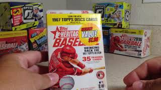 Opening a Wal-Mart Bargain Bin Rack Pack of 2016 Topps Heritage Baseball Cards