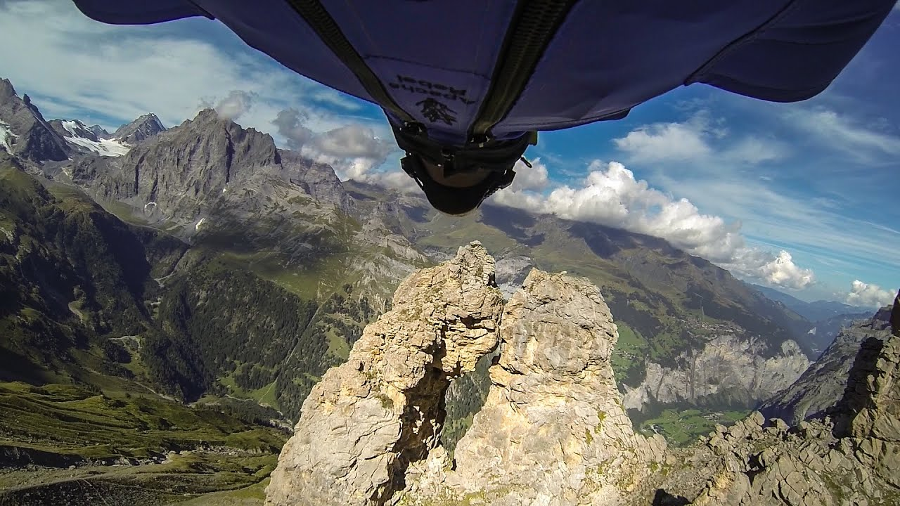 GoPro: Wingsuit Flight Through 2 Meter Cave – Uli Emanuele