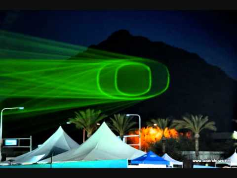 Nike Fiesta Bowl Laser Projections onto Camelback Mountain Scottsdale