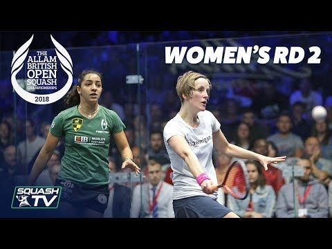 Squash: Allam British Open 2018 - Women's Rd 2 Roundup [Part 2]