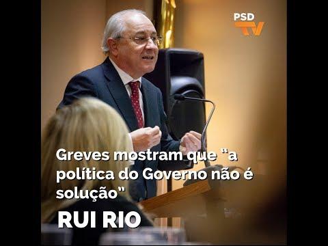 """Rui Rio: Greves mostram que """"a política do Governo não é solução"""""""