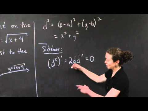 Closest Point to the Origin | MIT 18.01SC Single Variable Calculus, Fall 2010