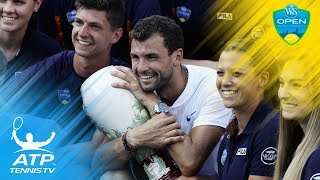 In a battle of two first-time Masters 1000 finalists, Grigor Dimitrov beat Nick Kyrgios to win in Cincinnati! Watch official ATP tennis...