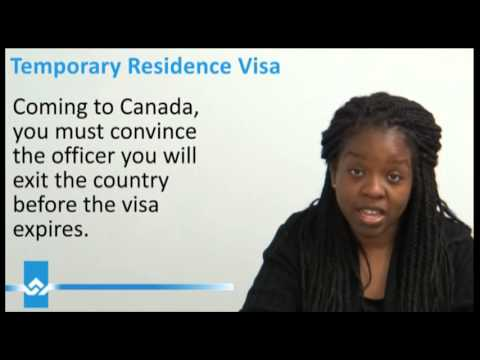 Temporary Residence Visa Canada Video