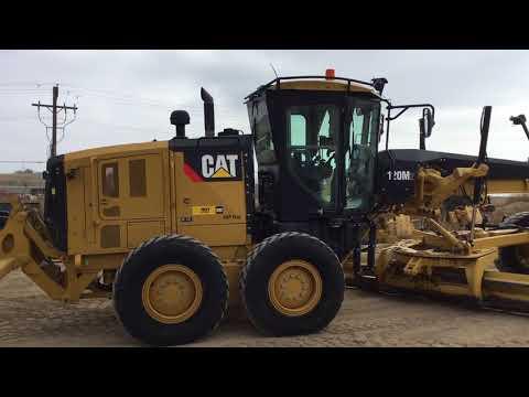 CATERPILLAR MOTOR GRADERS 120M2 equipment video -D1anXBtxRs