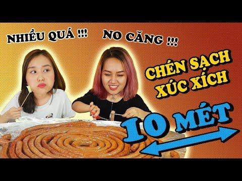 Ăn sạch XÚC XÍCH 10M để thả thính Châu Giang | BỤNG KHÔNG ĐÁY - Thời lượng: 11 phút.