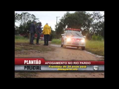 Afogamento Rio Pardo - Frentista de 34 anos está desaparecido.
