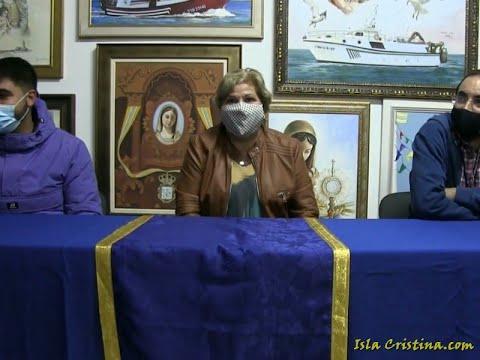 Rueda de prensa de la Hermandad para informar sobre la restauración de la Stma Virgen del Mar.