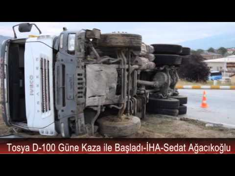 Tosya Dörtyol Kavşağında Kamyon Kazası