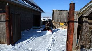 Чистка снега мотоблоком НМБ-1Н1