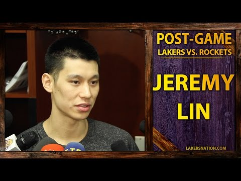 jeremy - Jeremy Lin plays 28 minutes in the Lakers loss to the Houston Rockets, and says after his DNP against the San Antonio Spurs, it changed his perspective. Join the Largest Lakers Fan Site in...