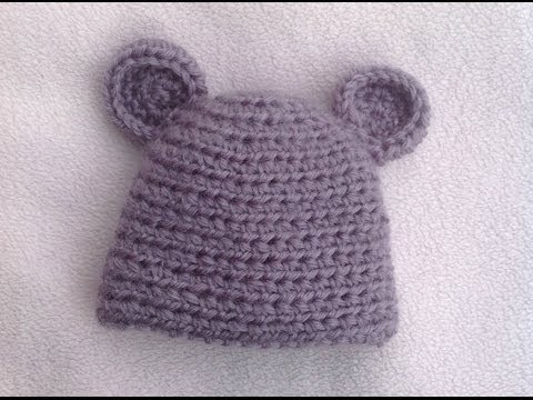 Download HOW TO CROCHET A VERY EASY  BABY HAT TUTORIAL HD Mp4 3GP Video and MP3