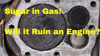 Video Will Sugar in Gas Destroy a Vehicles Engine?  See what it does to this Engine! MP3, 3GP, MP4, WEBM, AVI, FLV Oktober 2017
