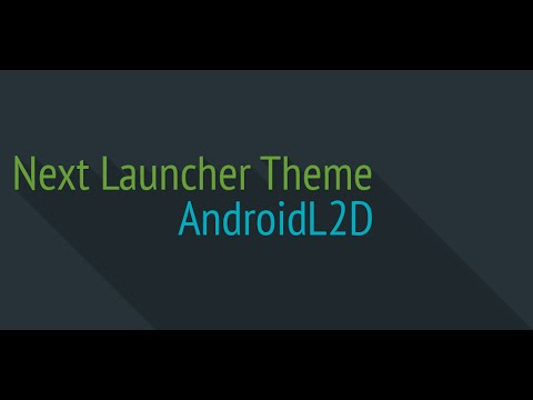 Video of Next Launcher Theme L2D