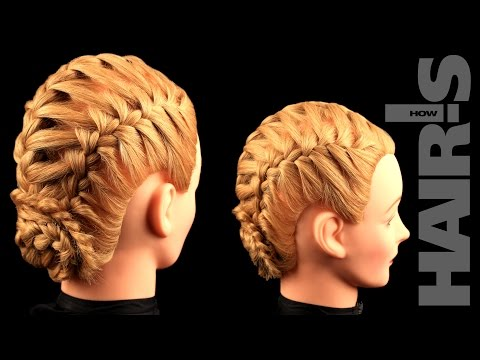 How to do an integrated French braid hairstyle with a braided chignon