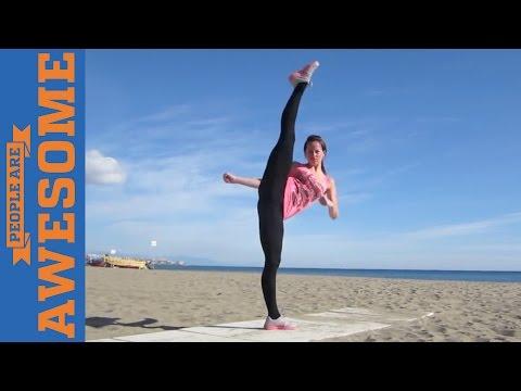 Невероятные трюки от любителей боевых искусств