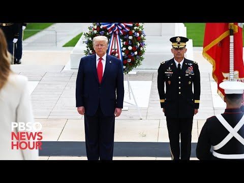 WATCH: Trump visits Arlington National Cemetery for Veterans Day observance