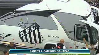 Santos players and delegation leave for Japan to try the world title.
