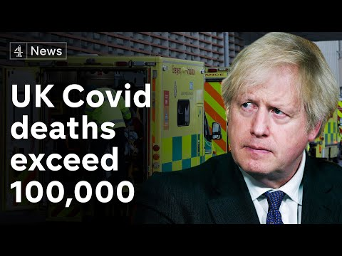 Johnson 'deeply sorry' as UK Covid deaths exceed 100,000