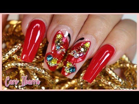 Diseños de uñas - Diseño de UÑAS PRIMAVERALES Y ELEGANTES Con Mariposas