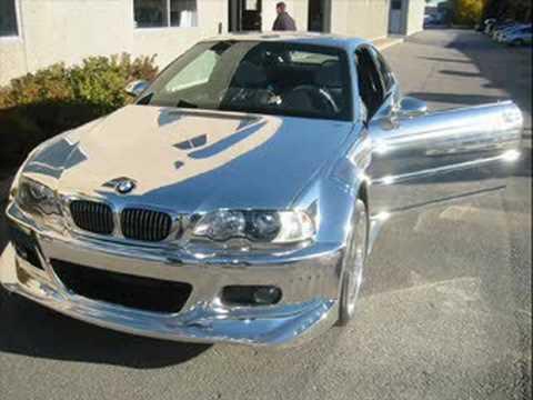 BMW - voll verchromt - Ein vollverchromtes Auto - welcher Tuner hat daran nicht schon gedacht, war das nicht verboten im öffentlichen Strassenverkehr? In...