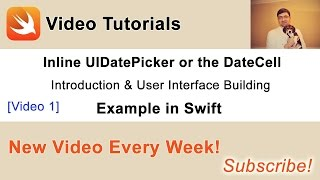 In this video I will briefly introduce you to the inline UIDatePicker example I am going to share with you and will also build a user interface(TableView with 3 cells and UIDatePicker) using Xcode User Interface Designer.You can find other videos and a source code of this project in my blog post at: http://swiftdeveloperblog.com/inline-uidatepicker-or-datecell-example-in-swift/
