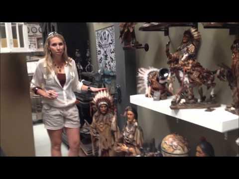 Esculturas de Índios Americanos (видео)