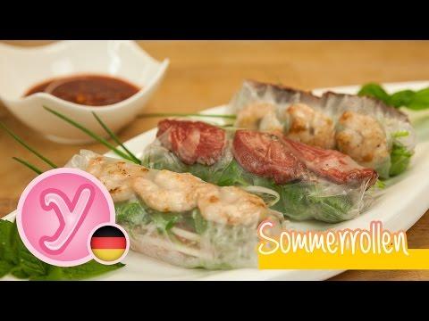 Frische vietnamesische SOMMERROLLEN - als Snack oder  ...