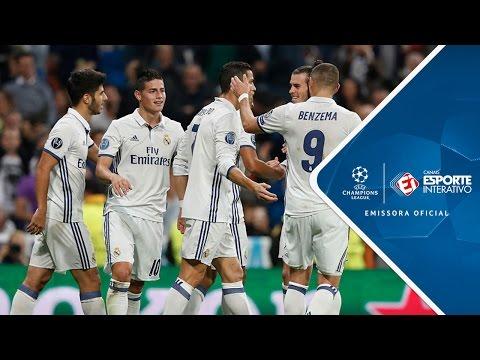 Melhores Momentos - Real Madrid 5 x 1 Legia Varsóvia - Champions League (18/10/2016)
