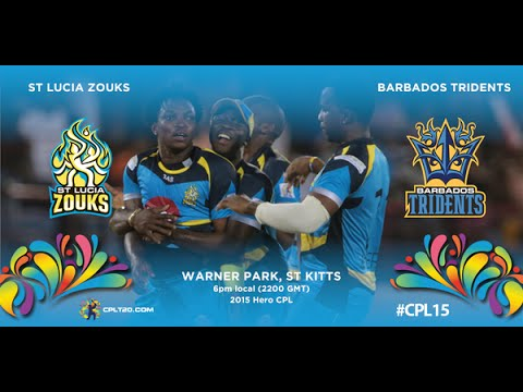 Jeevan Mendis two wickets in two balls vs St. Lucia, CPL, 2015