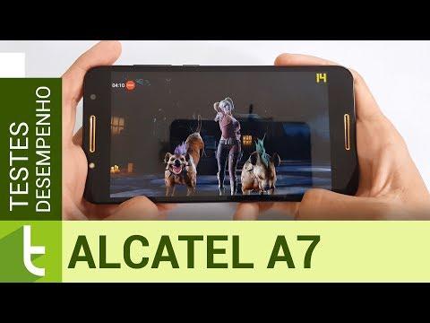 Desempenho do Alcatel A7  Teste de velocidade oficial do TudoCelular