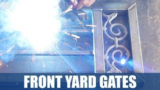 I built these metal gates for a clients front yard. This project was very repetitive and took a long time, but then end result was great and the client was happen. This metal security screen was also a unique addition to the gate. Don't forget to Subscribe! https://goo.gl/kWECHLLAST BUILD VIDEO: https://youtu.be/_e_wqfGWigUCheck out Jimbo's Metal Working videos here: http://bit.ly/20Dpj8t FOLLOW JIMBO!Facebook: https://www.facebook.com/TheOfficialJimbosGarage/Twitter: https://twitter.com/JimbosGarageInstagram: https://www.instagram.com/jimbosgarage/Where to buy Jimbos Tools:FEIN Tools Multitool: http://amzn.to/2fQ0zxwYost Vice: http://amzn.to/2cbbUq4DeWalt Mag Drill: http://amzn.to/2bPPNVzRikon Band Saw: http://amzn.to/2c21EvxEverlast Welder: http://amzn.to/2c8Dcf2Dewalt Table Saw: http://amzn.to/2cCLrm7Rikon Lathe: http://amzn.to/2bPPA4IBosch Miter Saw: http://amzn.to/2c3DMb3Ryobi Grinder: http://amzn.to/2c7afzoRyobi Drill Press: http://amzn.to/2c3DFfHRyobi Belt Sander: http://amzn.to/2cbaI62Husky Tool Box: http://amzn.to/2c3EntkEVERLAST Power Tig 210EXT: http://amzn.to/2pPBSl1EVERLAST Plasma Cutter 60S: http://amzn.to/2pyBZlOJimbo's Garage is a channel to find the how to's of welding, wood & other fun projects. Also see reviews on popular tool brands like FEIN, HILTI, DEWALT, MIKITA, RYOBI and more!