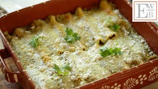 Learn how to make my Enchiladas Suizas, a terrific Sunday Night Dinner Idea! This dish really sings with a homemade roasted...