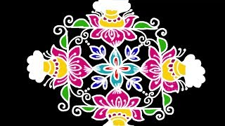 Download Lagu Simple And Easy Pongal Rangoli Design 13 3 With Colors