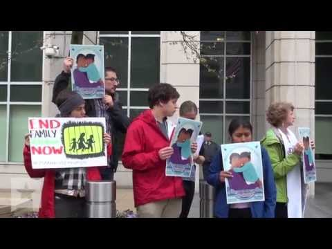 Protesters Rally In Support of Undocumented Immigrants on Hunger Strike