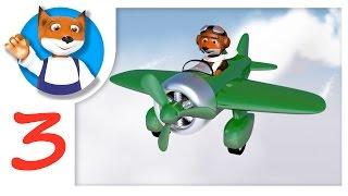 Цвета. Самолетики для изучения цветов с симпатичным лисёнком на детском канале