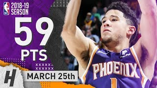 Devin Booker EPIC Full Highlights Suns vs Jazz 2019.03.25 - 59 Pts, 4 Ast, 4 Reb!