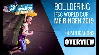 IFSC Climbing World Cup - Meiringen 2019 - Boulder - Qualifications Overview by International Federation of Sport Climbing