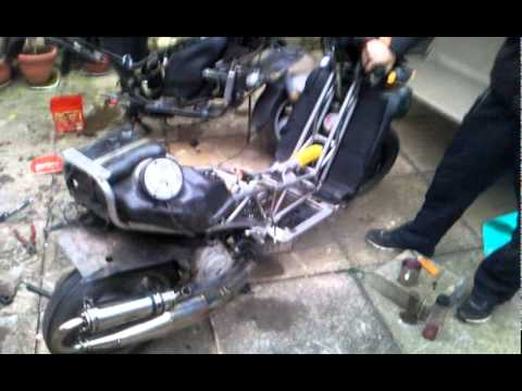 first start up of italjet dragster 125 with 180cc lc runner engine