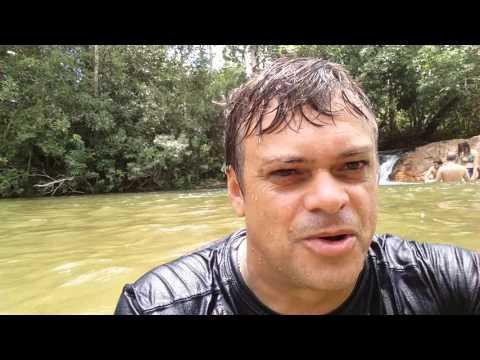 FALCÃO DO CERRADO NA CACHOEIRA DO GERCINO - NOVA XAVANTINA MATO GROSSO