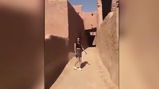 A young woman in Saudi Arabia has sparked fierce debate after she posted a video of herself wearing a miniskirt on social media.