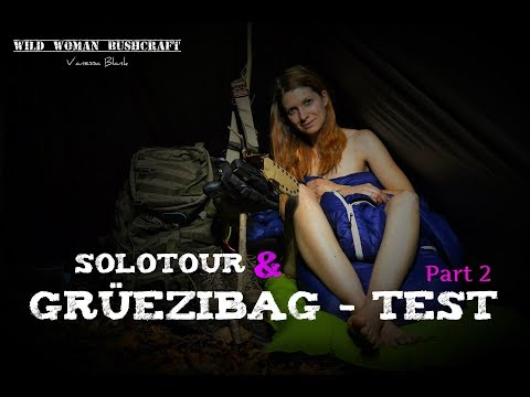 Solo - Overnighter - Grüezi Sleeping Bag ⚠ Test unclothed  - Wild Woman Bushcraft Part 2