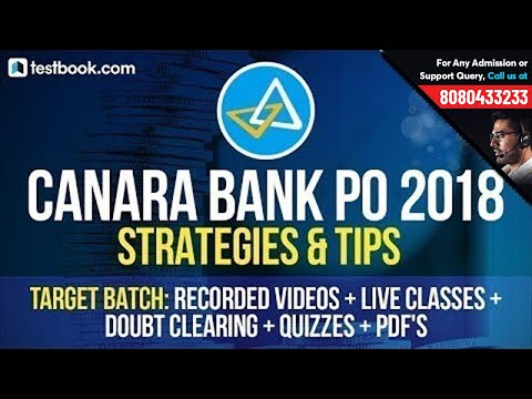 Canara Bank PO 2018 | Strategy + Preparation Tips By Experts | Canara Bank PO Target Batch