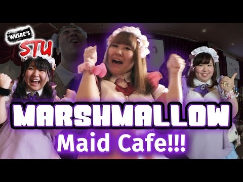 Japan's First 'PLUS-SIZE' Maid Cafe!!! (Marshmallow Cafe) (видео)