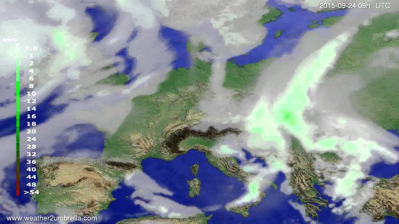 Precipitation forecast Europe 2015-09-20