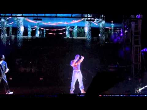 hologram performance - COACHELLA 2012 TUPAC 3D HOLOGRAM FULL PERFORMANCE WEEK 1 SUNDAY APRIL 15TH.