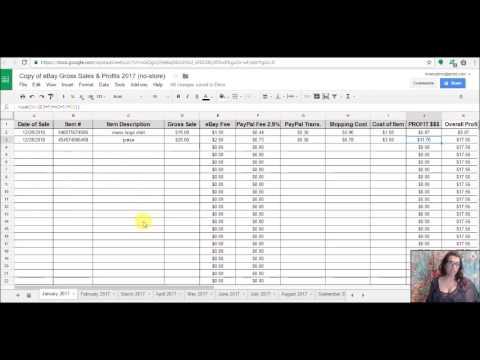 Spreadsheet for tracking eBay Profits! Google Doc AVAILABLE NOW!