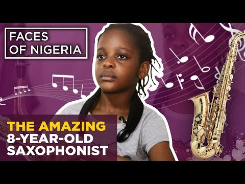 Temilayo Abodunrin Story: 8-Year-Old Girl Shows the World Her Skills Playing Saxophone | Legit TV